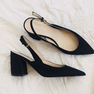 Marc Fisher Suede Kitten Heels